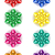 set icons bow for gift vector illustration stock photo © konturvid