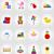 вектора · игрушку · иконки · Игрушки · для · маленьких · детей · набор · игрушками - Сток-фото © konturvid