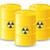 yellow barrels of radioactive waste vector illustration stock photo © konturvid