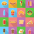 fast food flat icons with the shadow vector illustration stock photo © konturvid