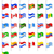 flags north and south americas countries vector illustration stock photo © konturvid