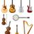 muziekinstrumenten · ingesteld · iconen · voorraad · geïsoleerd · witte - stockfoto © konturvid