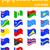 vector · icono · curva · banderas · verde · triángulo - foto stock © konturvid