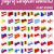 flags of european countries flaticons vector illustration stock photo © konturvid