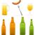 sörösüveg · üveg · kolbász · izolált · fehér · narancs - stock fotó © konturvid