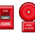 fire alarm vector illustration stock photo © konturvid