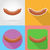 fried sausage fast food flat icons with the shadow vector illust stock photo © konturvid
