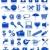 cigarro · fumar · isolado · fumador · azul · tabaco - foto stock © konturvid