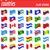 flags north and south americas countries flat icons vector illus stock photo © konturvid