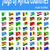flags of africa countries flat icons vector illustration stock photo © konturvid