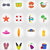 objects for recreation a beach flat icons vector illustration stock photo © konturvid