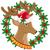 Natale · ghirlanda · frutti · di · bosco · illustrazione · colorato - foto d'archivio © konturvid