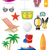 set of beach icons vector illustration stock photo © konturvid