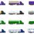 conjunto · ícones · caminhões · isolado · branco · carro - foto stock © konturvid