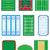 fields for sports games vector illustration stock photo © konturvid