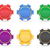colored casino chips vector illustration stock photo © konturvid