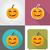 halloween pumpkin flat icons vector illustration stock photo © konturvid