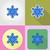 Noël · nouvelle · année · icônes · isolé · résumé · neige - photo stock © konturvid
