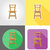 chair furniture set flat icons vector illustration stock photo © konturvid