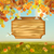 vector autumn landscape wooden board stock photo © kostins