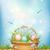 páscoa · cesta · completo · ovos · de · páscoa · eps · 10 - foto stock © kostins