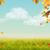 automne · ciel · vecteur · bannière · laisse · forêt - photo stock © kostins