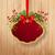Rood · kerstmis · label · bes · helling - stockfoto © kostins