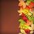 sarı · dekoratif · düşmek · kart · şablon - stok fotoğraf © kostins