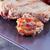 plaat · groenten · frietjes · biefstuk · achtergrond · vlees - stockfoto © koufax73