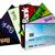 dívida · cartões · de · crédito · isolado · azul · lápis · financiar - foto stock © koufax73