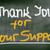 thank you for your support concept stock photo © krasimiranevenova