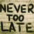 никогда · поздно · часы · печально · время · успех - Сток-фото © krasimiranevenova