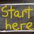 starts here concept stock photo © krasimiranevenova