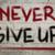 никогда · давать · вверх · символ · многие · вещи - Сток-фото © krasimiranevenova