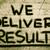 we deliver results concept stock photo © krasimiranevenova