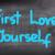 first love yourself concept stock photo © krasimiranevenova
