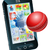 cricket ball flying out of mobile phone stock photo © krisdog