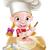 női · sütemény · szakács · sütés · torta · rajz - stock fotó © krisdog