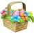 пасхальных · яиц · корзины · Пасху · сцена · полный · украшенный - Сток-фото © krisdog