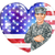 soldier and heart us flag stock photo © krisdog