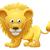 улыбаясь · Cartoon · лев · талисман · вектора · графических - Сток-фото © krisdog