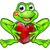 cartoon frog with kiss and love heart stock photo © krisdog