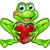 sapo · príncipe · desenho · animado · verde · isolado - foto stock © krisdog