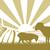 dombok · mezők · farm · napfelkelte · rajz · illusztráció - stock fotó © krisdog