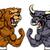 tőzsde · illustrator · bika · medve · üzlet · pénz - stock fotó © krisdog