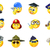 jobs occupations work emoji emoticon set stock photo © krisdog