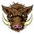 vier · desen · animat · faţă · vector · imagine · mascota - imagine de stoc © krisdog