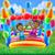 saltando · trampolim · ilustração · feliz · criança - foto stock © krisdog