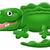 krokodil · gator · aligátor · vektor · rajzfilm · kabala · kép - stock fotó © krisdog