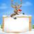 christmas cartoon reindeer sign stock photo © krisdog